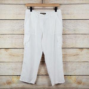 Tommy Bahama Women's White 100% Linen Crop Pants